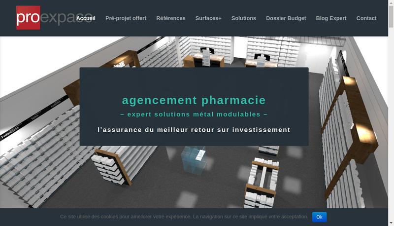 Capture d'écran du site de Proexpace
