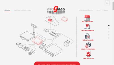 Capture d'écran du site de Progmag