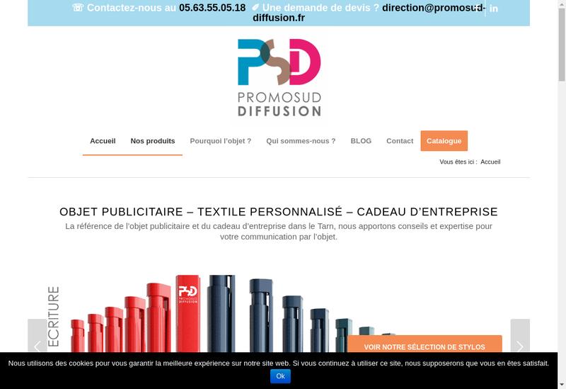 Capture d'écran du site de Promosud Diffusion