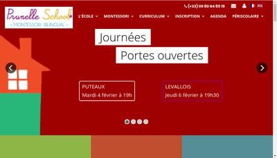 Site internet de Prunelle School