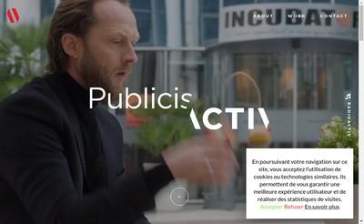 Site internet de Bleu Vert Comm, Publicis Activ Lyon