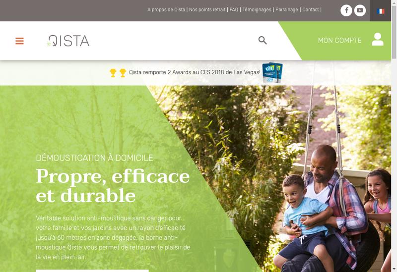 Capture d'écran du site de Qista