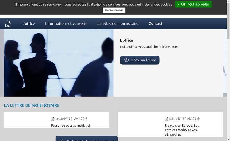 Capture d'écran du site de Les Notaires du Quai Voltaire