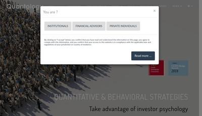 Site internet de Quantology Capital Management