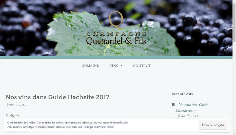 Capture d'écran du site de Societe Grands Vins Champagne Labruyere