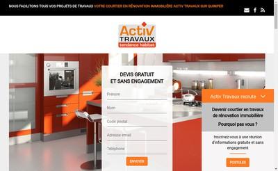 Site internet de Activ Travaux