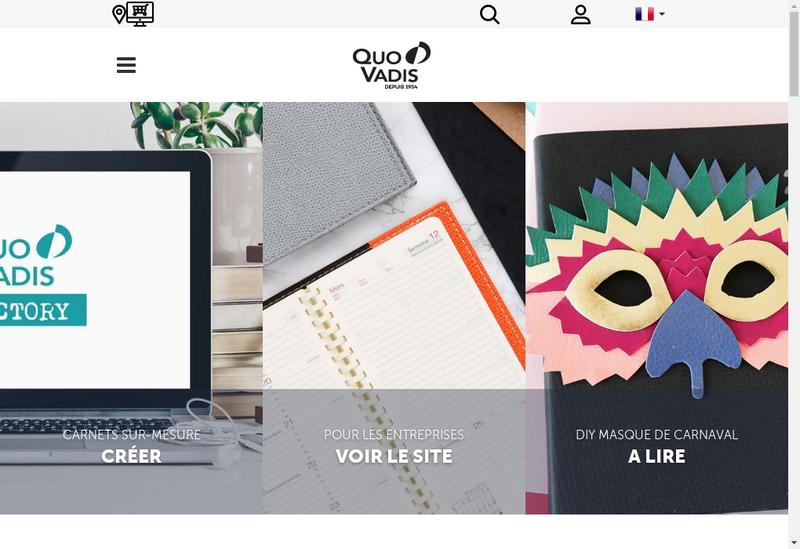 Capture d'écran du site de Editions Quo Vadis