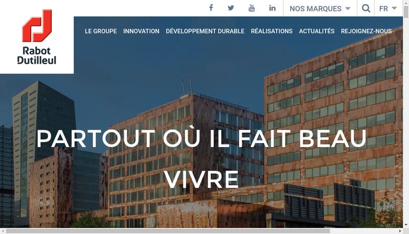 Capture d'écran du site de Rabot Dutilleul Holding