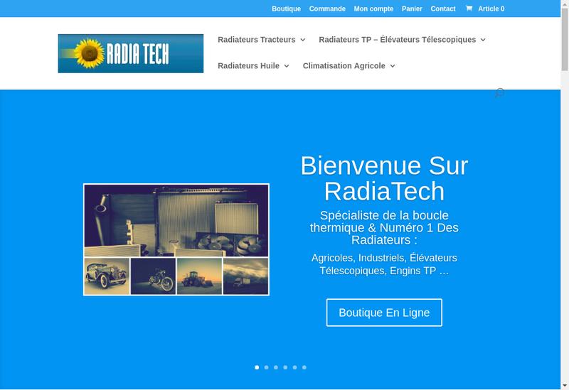 Capture d'écran du site de Vosges Radia