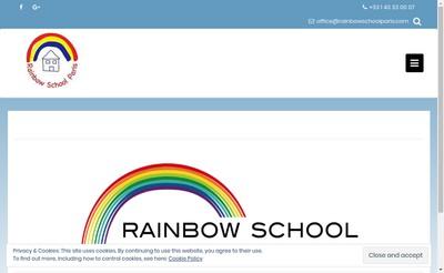 Site internet de Rainbow School Paris