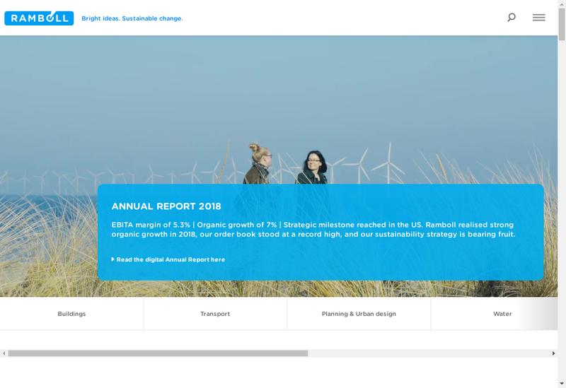 Capture d'écran du site de Ramboll France