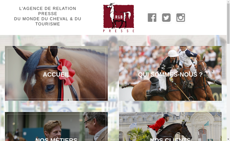 Capture d'écran du site de Agence de Presse et Reportages Hippiques