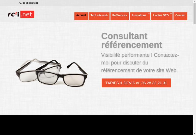 Capture d'écran du site de Jean Batiste Rey
