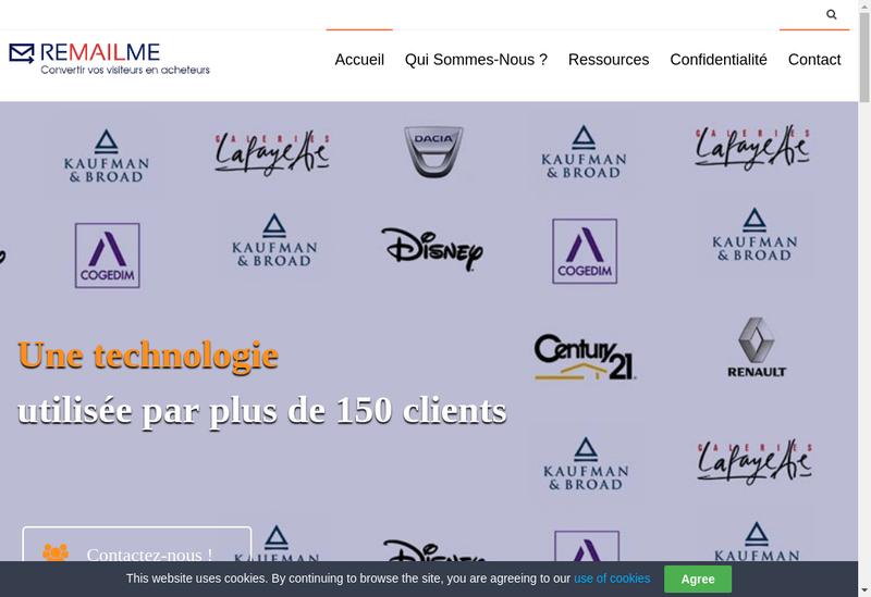 Capture d'écran du site de Remailme