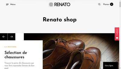 Site internet de Renato Boutique