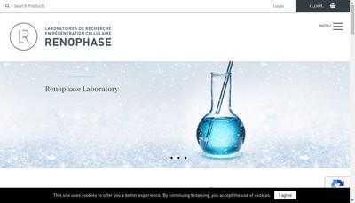 Site internet de Laboratoires Renophase