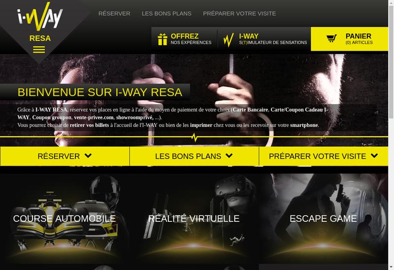 Capture d'écran du site de I-Way
