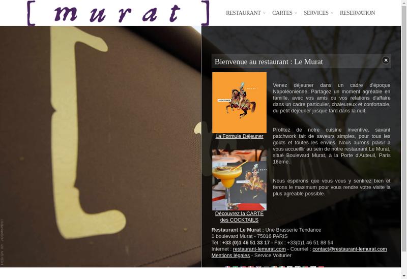 Capture d'écran du site de SNC le Murat