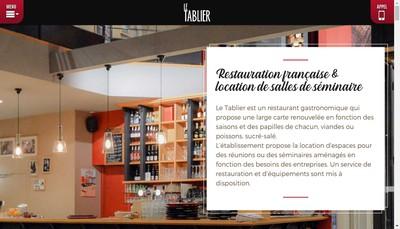 Site internet de Le Tablier