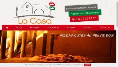 Site internet de La Casa Brasserie Restaurant Pizzeria