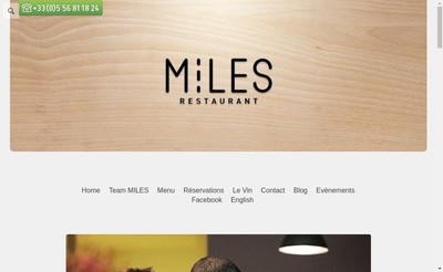 Site internet de Miles