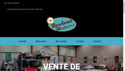 Site internet de Revival Motors