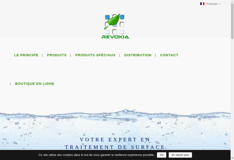 Capture d'écran du site de Revoxia