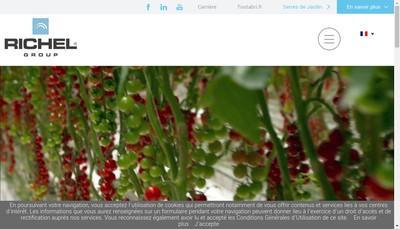 Site internet de Richel Group