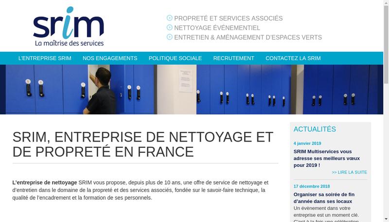 Capture d'écran du site de SARL Srim Multiservices