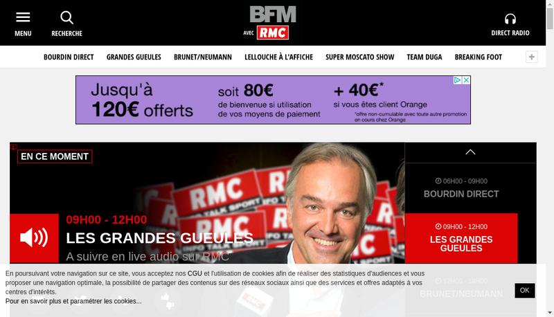 Capture d'écran du site de Societe Radio Monte Carlo