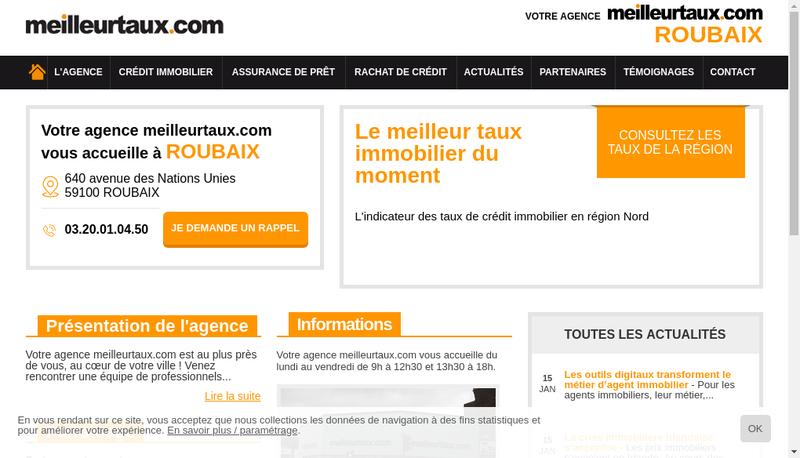 Capture d'écran du site de Meilleurtaux.com