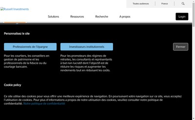 Site internet de Russell Investments France