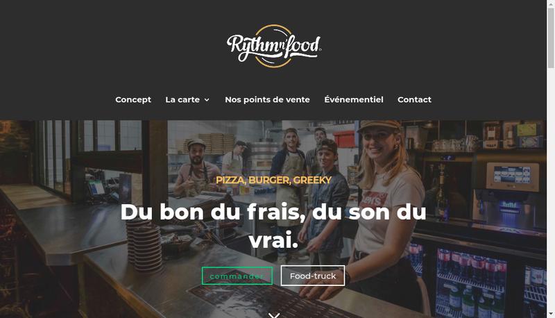 Capture d'écran du site de Rythmn N Food