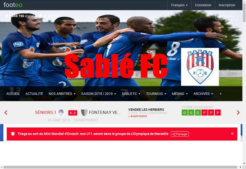 Capture d'écran du site de SABL
