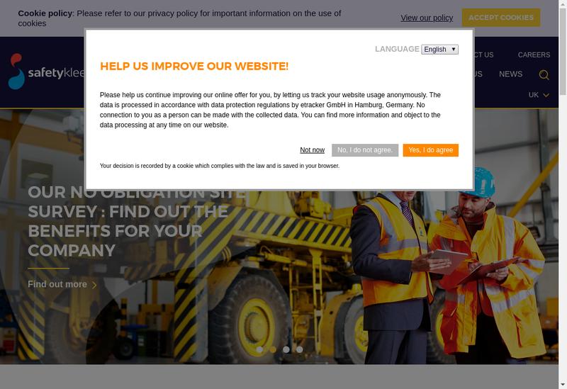 Capture d'écran du site de Safety-Kleen