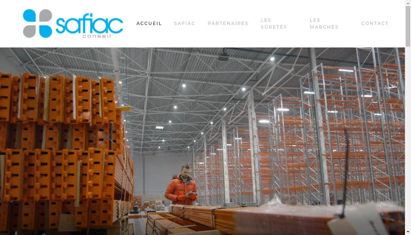 Capture d'écran du site de Safiac