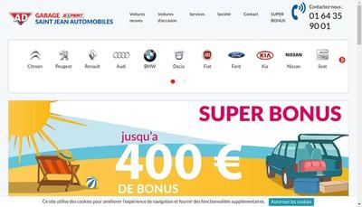 Site internet de Saint Jean Automobiles SARL