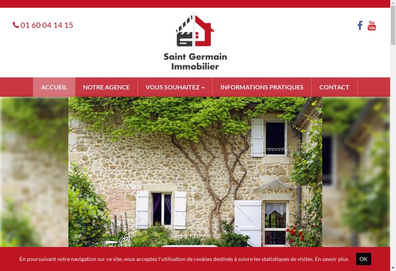 Capture d'écran du site de Saint Germain Immobilier