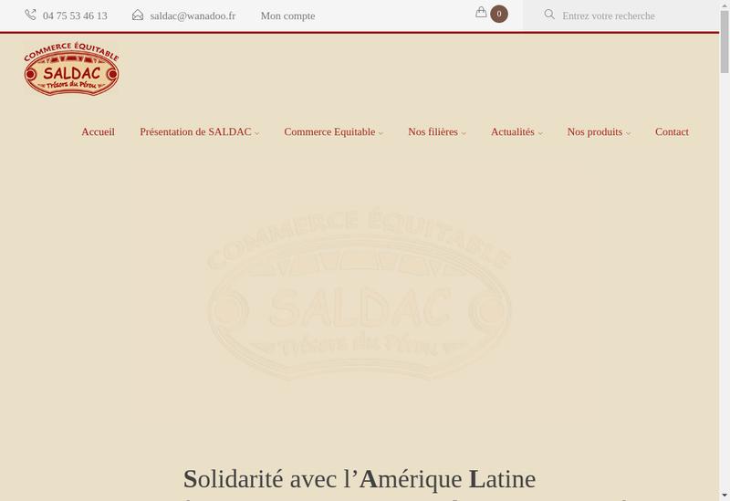 Capture d'écran du site de Solidarite Avec l'Amerique Latine Deve