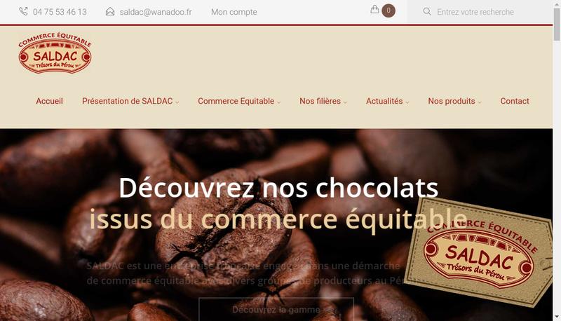 Capture d'écran du site de Saldac