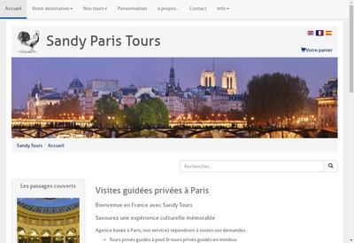 Site internet de Sandy Tours