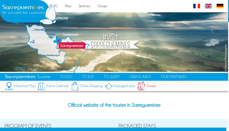 Capture d'écran du site de Sarreguemines Tourisme