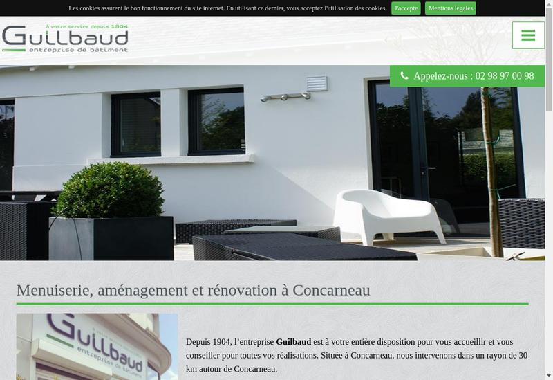 Capture d'écran du site de Guilbaud