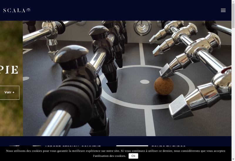 Capture d'écran du site de Scala Patrimoine