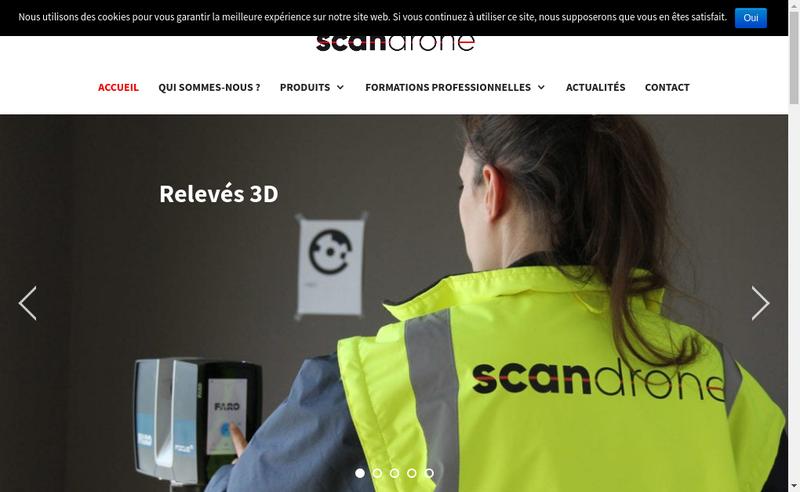 Capture d'écran du site de Scandrone