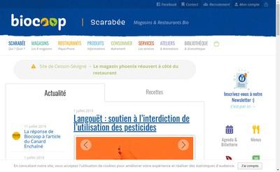 Site internet de Scarabee