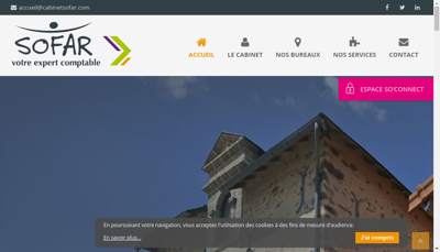 Capture d'écran du site de Sc Expertise et Audit