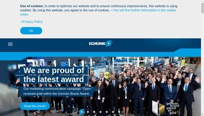 Site internet de Schunk Intec