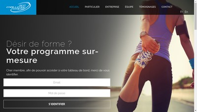 Site internet de Sport Challenge Performance