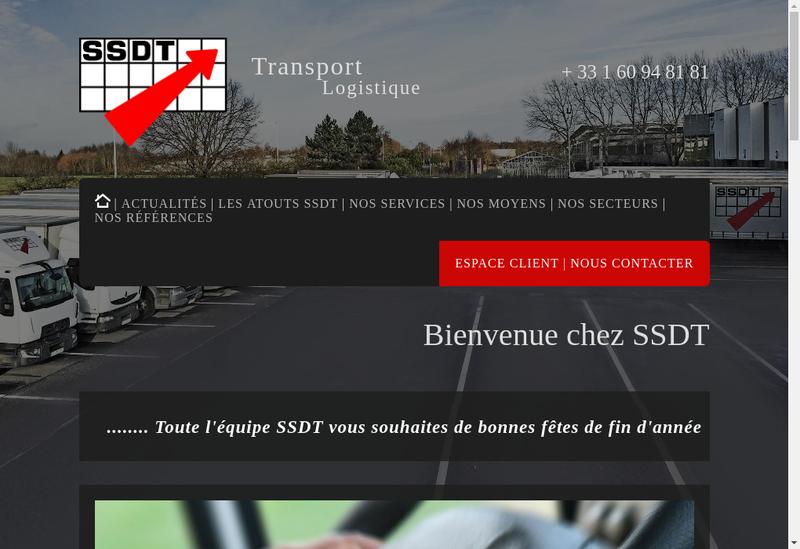 Capture d'écran du site de SSDT